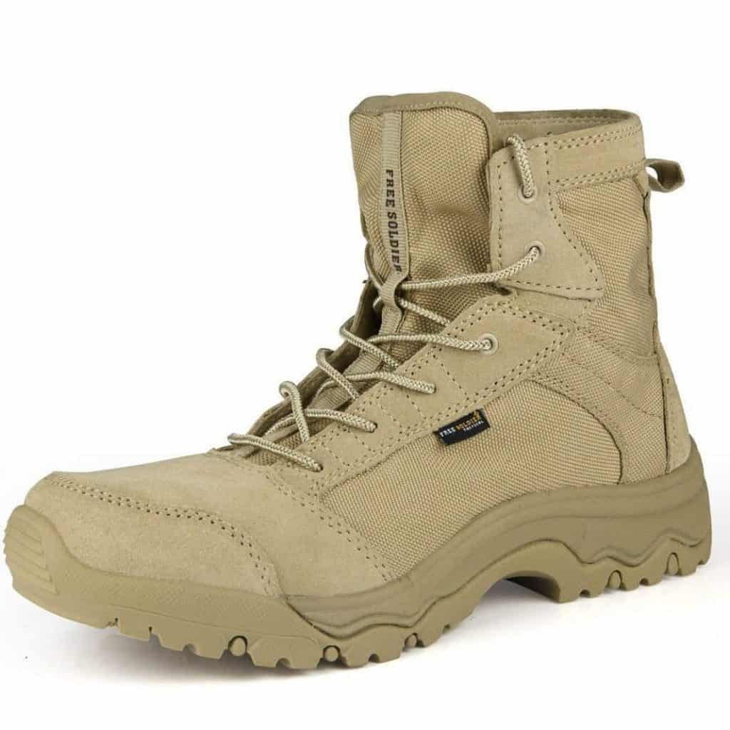 FREE SOLDIER Men's Lightweight Tactical Boots Durable Breathable Shoe for Hiking Running Desert