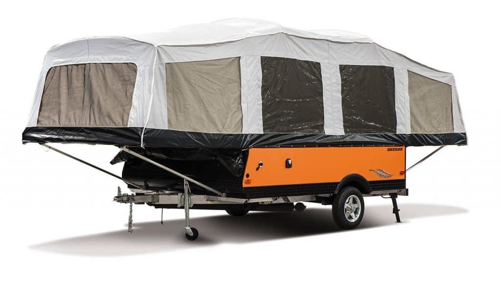 2018 Livin Lite QuickSilver 10.0 Tent Camper Exterior Front 3 4 Off Door 1
