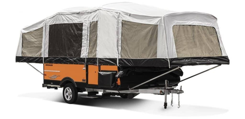 2018 Livin Lite QuickSilver 10.0 Tent Camper Exterior Front 3 4 Door