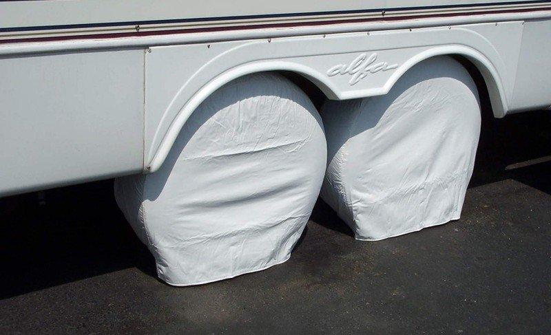 Camco 45344 RV Vinyl Spare Tire Cover 29-Inch Diameter Arctic White