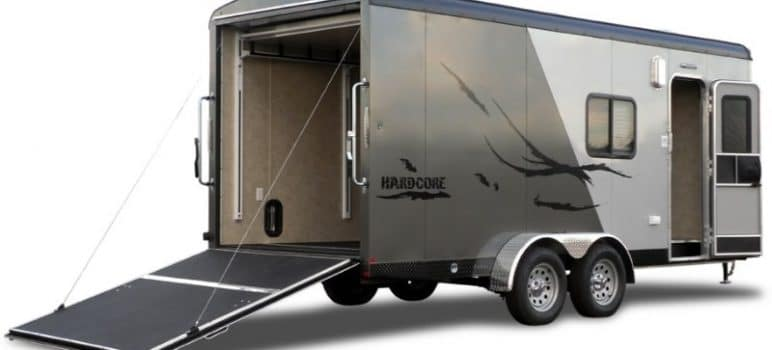 small toy hauler travel trailers