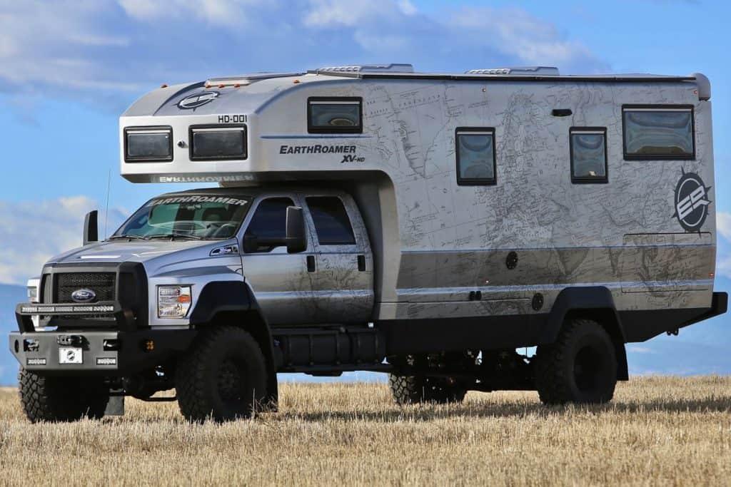 Ford F-750 RV camper truck