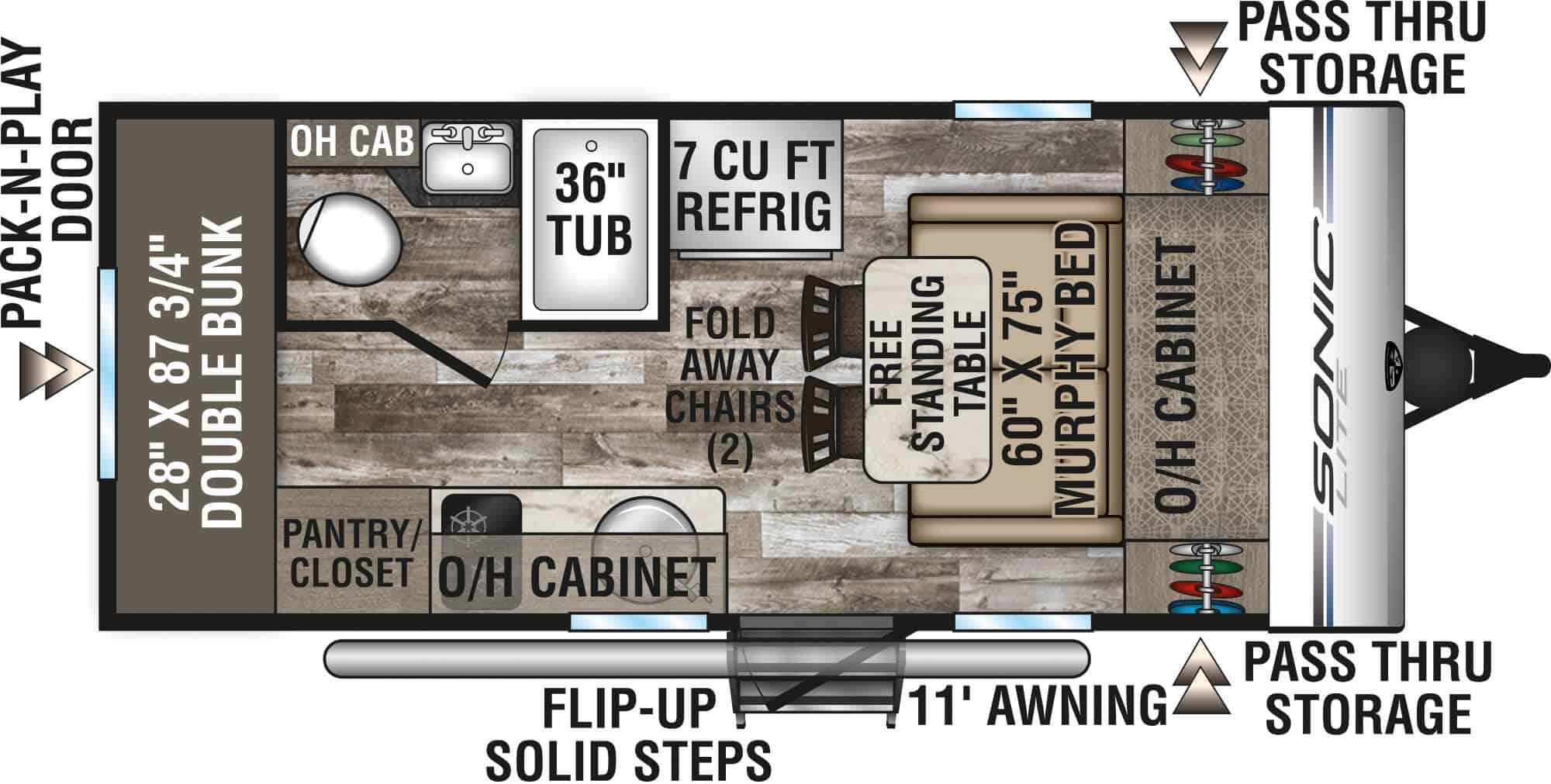 SONIC LITE floor plan