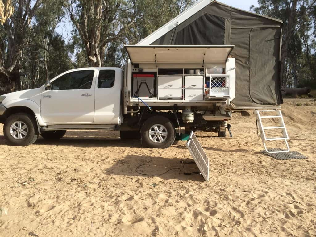 Outback Campers single cab Tray topper