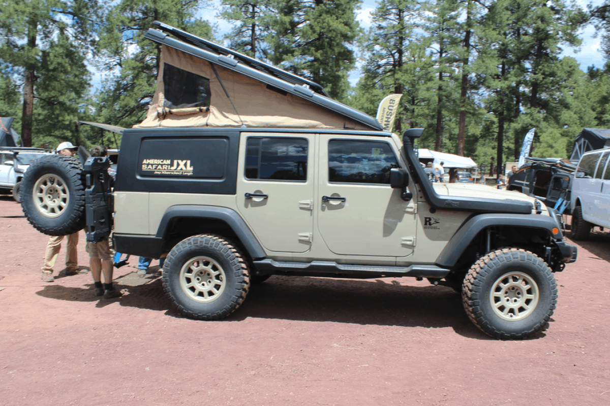 campers suitable for a Jeep Wrangler