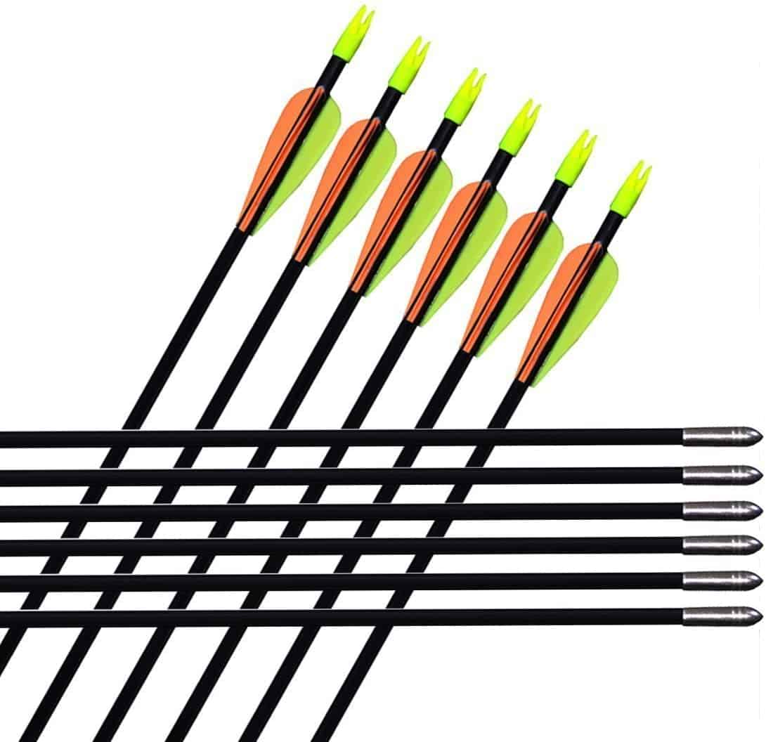 "GPP 29"" Fiberglass Archery Arrows"