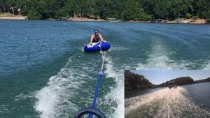 Pull a Tube With a Pontoon Boat